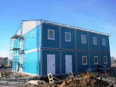Монтаж модульного здания АБК на Новолипецком Металлургическом Комбинате